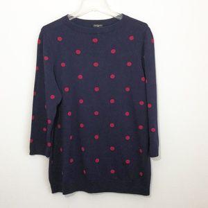 NWT Talbots Navy Polka Dot Sweater Women's Size 1X